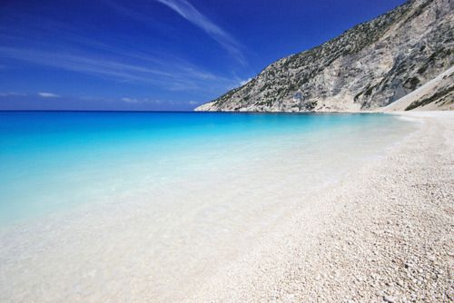 Myrtos Beach, Kefalonia- Greece. Image via pinterest.com