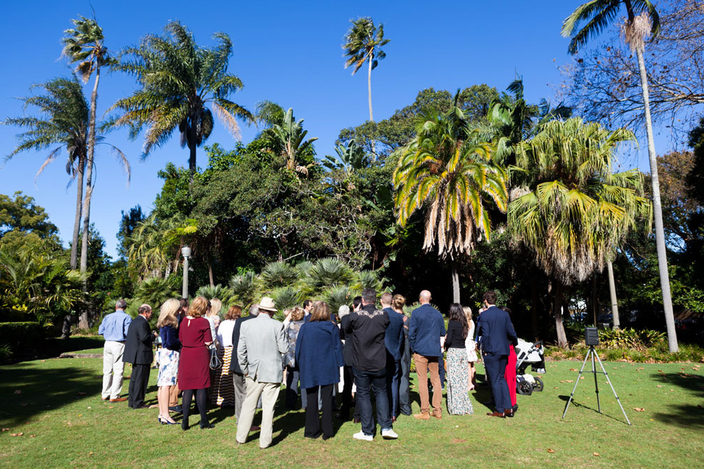 Intimate wedding ceremony at Chiswick Gardens Woollahra