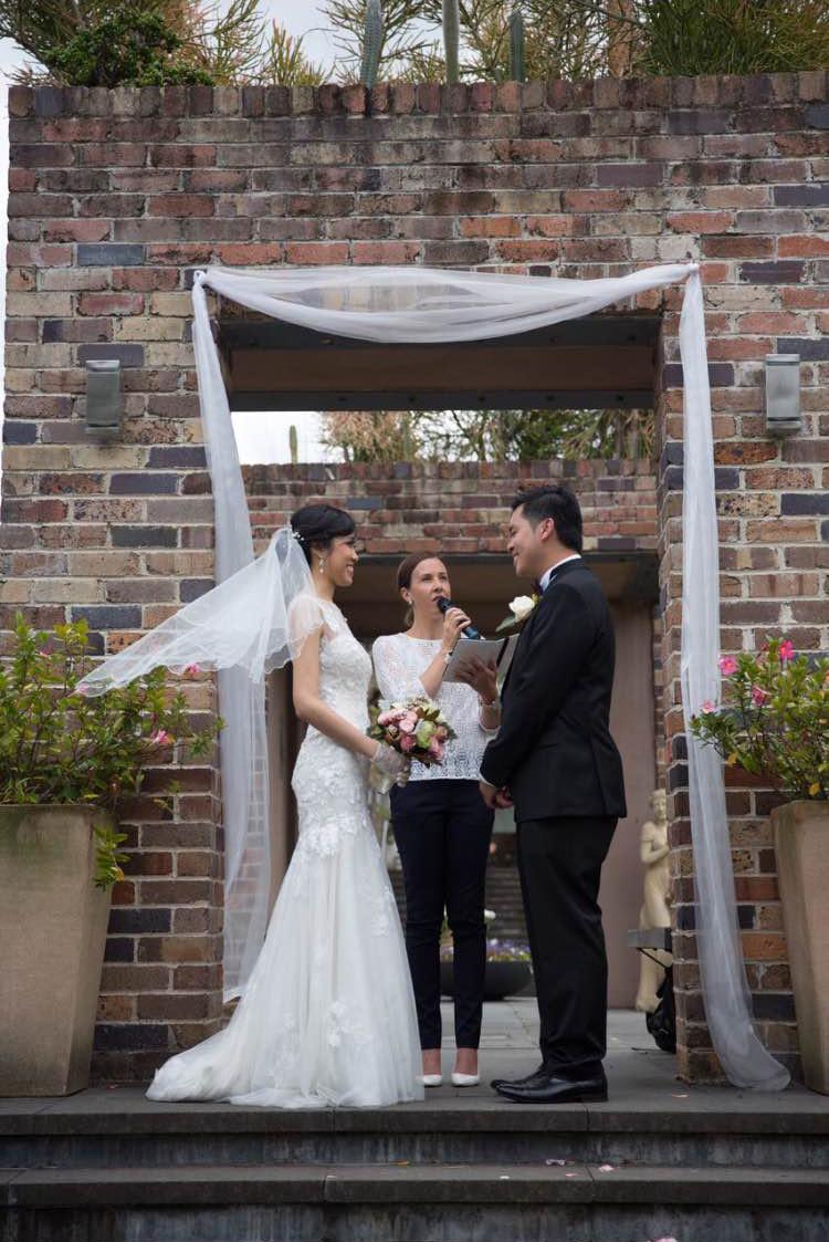 Eden Gardens wedding Sydney, Andrea Calodolce Celebrant