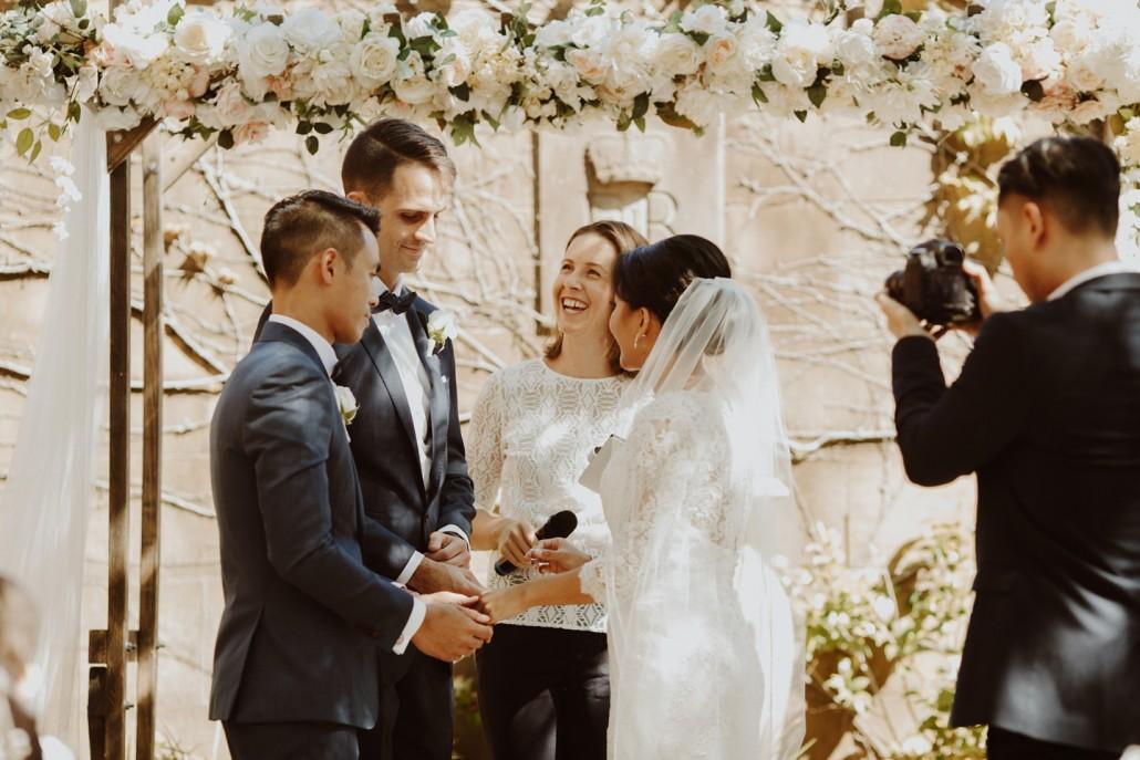 Wedding photo bomb - Andrea Calodolce Ceremonies - Sydney Celebrant