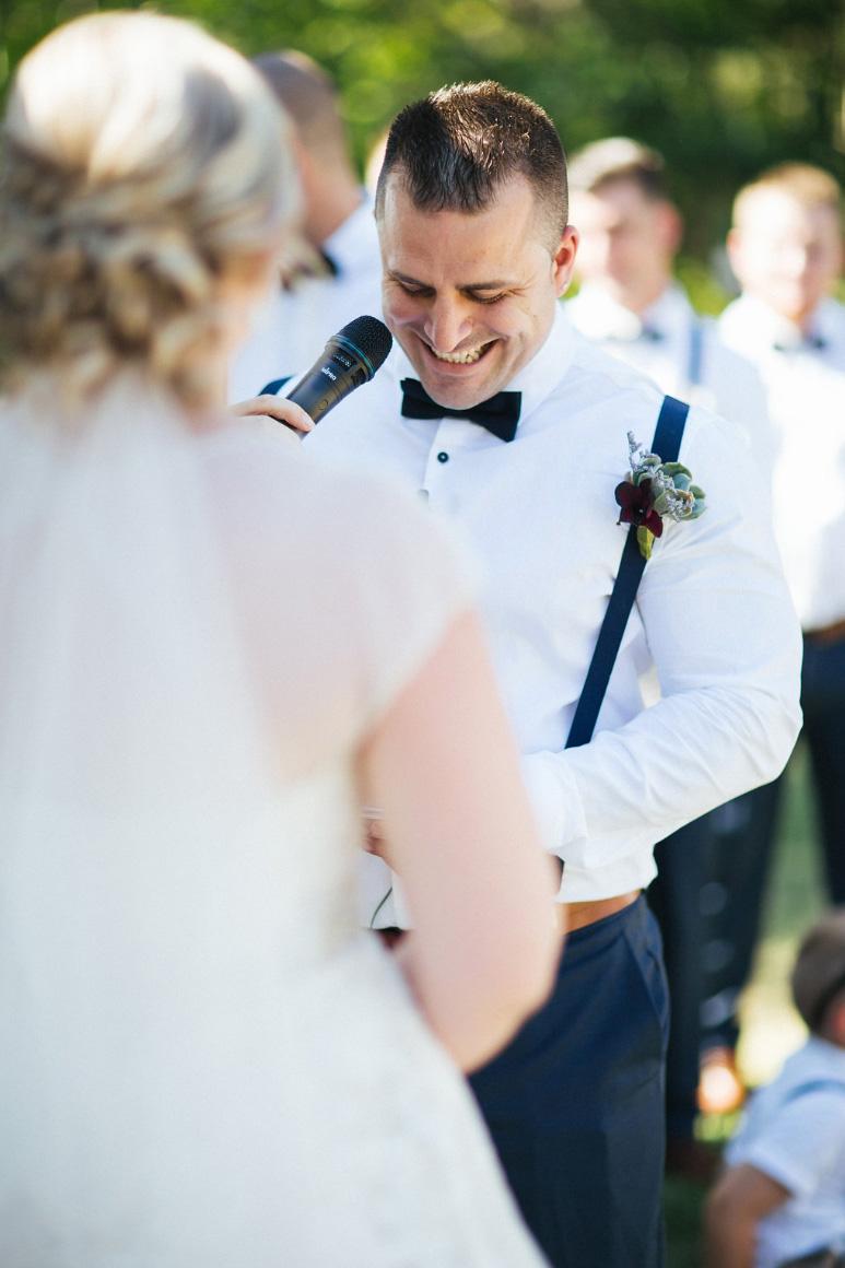 Andrea Calodolce Sydney Celebrant - Jaime & Matt's Wisemans Ferry Wedding