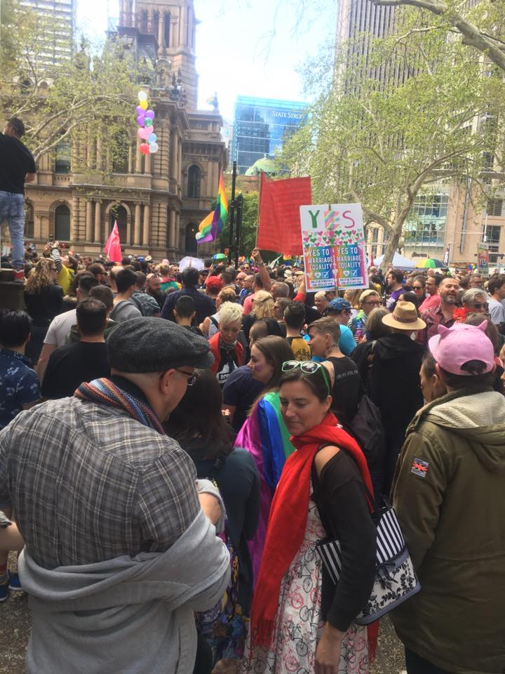 Marriage Equality Rally Sydney - September 2017 - Andrea Calodolce Marriage Celebrant Sydney