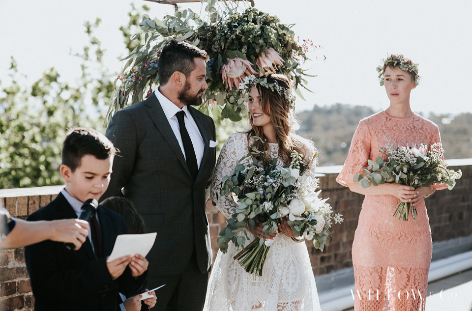 Bride and Groom look lovingly at one another - Andrea Calodolce Ceremonies - Sydney Celebrant